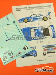 Reji Model: Marking / livery 1/24 scale - BMW M1 Group A Denim Procar #81 - Hans Heyer (DE) - Monaco Formula 1 Grand Prix 1980 - water slide decals and assembly instructions - for Revell references REV07247, 07247 and 80-7247