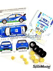 Reji Model: Marking / livery 1/24 scale - Ford Focus WRC Neste Oil #12 - Juha Kankkunen (FI) + Juha Repo (FI) - 1000 Lakes Finland Rally 2010 - resin parts, rubber parts, water slide decals and assembly instructions - for SimilR reference SIMILR-121001