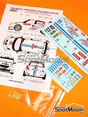 Reji Model: Marking / livery 1/24 scale - Skoda Fabia S2000 Evo VM Motorsport #15 - Sébastien Ogier (FR) + Julien Ingrassia (FR) - Montecarlo Rally 2012 - photo-etched parts, water slide decals and assembly instructions - for Belkits references BEL-004 and BEL004