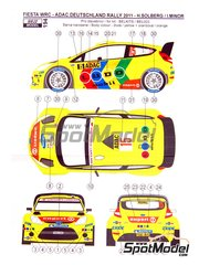 Reji Model: Decoración escala 1/24 - Ford Fiesta WRC LUDO Mobil Nº 15 - Henning Solberg (NO) + Ilka Minor-Petrasko (AT) - Rally de Alemania ADAC 2011 - calcas de agua y manual de instrucciones - para kit de Belkits BEL-003