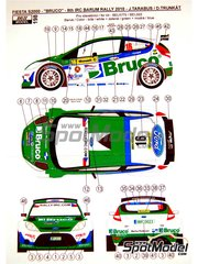 Reji Model: Decals 1/24 scale - Ford Fiesta S2000 Bruco #16 - Tarabus + Trunkat - Barum Czech Rally 2010 - water slide decals and assembly instructions - for Belkits reference BEL-002