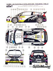 Reji Model: Marking / livery 1/24 scale - Citroen C4 WRC Lunde Marine Group #11 - Petter Solberg (NO) + Phil Mills (GB) - Catalunya Costa Dorada RACC Rally 2009 - water slide decals and assembly instructions - for Heller reference 80756