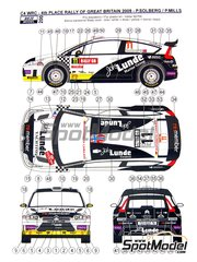 Reji Model: Decals 1/24 scale - Citroen C4 WRC Lunde Marine Group #11 - Petter Solberg (NO) + Phil Mills (GB) - Great Britain Rally 2009 - for Heller reference 80756