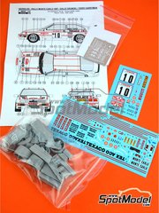 Reji Model: Marking / livery 1/24 scale - Ford Sierra RS 500 Texaco #10 - Kalle Grundel (SE) + Terry Harryman (GB) - Montecarlo Rally 1987 - photo-etched parts, resin parts, water slide decals, assembly instructions and painting instructions - for Tamiya references TAM24080 and TAM24081