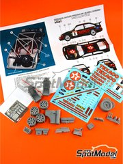 Reji Model: Marking 1/24 scale - Ford Sierra Cosworth RS 500 Ford Texaco Motorsport #8 - Mark Lovell (GB) + Roger Freeman (GB) - Ypres Rally 1987 - photo-etched parts, resin parts, water slide decals and assembly instructions - for Tamiya kits TAM24080 and TAM24081