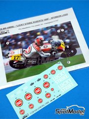 Reji Model: Decoración escala 1/12 - Yamaha YZR500 Lucky Strike Nº 17 - Kenny Roberts (US) - Campeonato del Mundo de Motociclismo 1988 - calcas de agua y manual de instrucciones - para las referencias de Hasegawa 21503, BK-3 y 21707