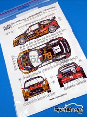 Reji Model: Decals 1/24 scale - Citroen DS3 WRC Total #1 - Sebastien Loeb (FR) + Daniel Elena (MC) - Alsace France Rally 2013 - for Heller kits 80757 and 80758
