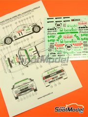 Reji Model: Marking / livery 1/24 scale - Lancia 037 Rally Totip Benetton #11 - Adartico Vudafieri (IT) + Luigi Pirollo (IT) - Tour de Corse 1983 - water slide decals and assembly instructions - for Hasegawa references 20264, 20277, 20299 and 25030