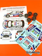 Reji Model: Transkit 1/24 scale - Citroen DS3 WRC Liqui Moly #5 - Igor Drotár (SK) + Vladimir Bánoci (CZ) - Tatry Rally 2015 - for Heller references 80757 and 80758