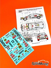 Reji Model: Marking / livery 1/24 scale - Toyota Celica GT-Four ST165 Castrol #13 - Armin Schwarz (DE) + Klaus Wicha (DE) - ADAC Deutschland Rally 1990 - water slide decals and assembly instructions - for Beemax Model Kits kit B24001