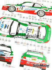 Reji Model: Model car kit 1/24 scale - Hyundai Accent WRC EVO 2 Castrol #9, 10 - Alister McRae (GB) + David Senior (GB), Carlo Cassina (IT) + Piero Liatti (IT) - Catalunya Costa Dorada RACC Rally 2001