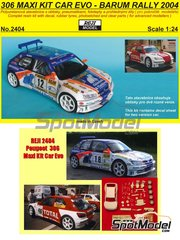 Reji Model: Model car kit 1/24 scale - Peugeot 306 Maxi Kit Car Evo Total #12, 46, 47 - Stepan, Tomas, Josef Peták (CZ) + Alena Benešová (CZ) - Barum Czech Rally 2004 - resin multimaterial kit