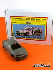 Reji Model: Model car kit 1/24 scale - Skoda Octavia WRC Castrol #3 - Triner + Miloš Hulka (CZ) - Bohemia rally 1999 - resin kit