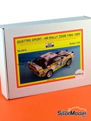 Reji Model: Model car kit 1/24 scale - Audi Quattro Sport HB #3 - Walter Röhrl (DE) + Christian Geistdörfer (DE), Stig Blomqvist (SE) + Björn 'Kapten' Cederberg (SE) - Montecarlo Rally, Sanremo Rally 1984, 1985 - multimaterial kit