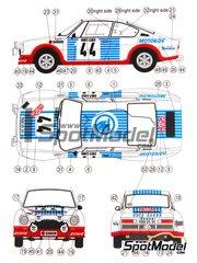 Reji Model: Model car kit 1/24 scale - Skoda 130 RS #49 - Václav  Blahna (CZ) + Lubislav  Hlávka (CZ) - Montecarlo Rally 1977 - resin multimaterial kit