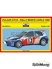 Reji Model: Model car kit 1/24 scale - Nissan Pulsar GTI-R Blomqvist #12 - Tommi Mäkinen (FI) - Montecarlo Rally 1992 - resin multimaterial kit