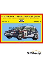 Reji Model: Model car kit 1/24 scale - Nissan Pulsar GTI-R Alcatel #1 - Grégoire de Mevius (BE) + Willy Lux (BE) - Boucles de SPA 1993 - resin multimaterial kit image