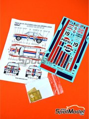 Reji Model: Marking 1/24 scale - Ford Escort Mk. I Pepsi #19 - Timo Mäkinen (FI) + Henry Liddon (GB) - Montecarlo Rally 1972 - photo-etched parts, water slide decals and assembly instructions - for Belkits kits BEL006 and BEL007