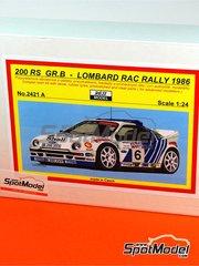 Reji Model: Model car kit 1/24 scale - Ford RS200 Group B Shell Motorcraft #2, 6 - Kalle Grundel (SE) + Benny Melander (SE), Stig Blomqvist (SE) + Bruno Berglund (SE) - RAC Rally 1986 - resin multimaterial kit
