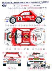Reji Model: Model car kit 1/24 scale - Ford RS200 Belga #5 - Robert Droogmans (BE) + Ronny Joosten (BE) - 24 Hours Ypres 1986 - resin multimaterial kit