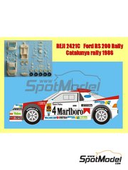 Reji Model: Model car kit 1/24 scale - Ford RS200 Marlboro #4 - Antonio Zanini (ES) + Josep Autet (ES) - Catalunya Costa Dorada RACC Rally 1986 - resin multimaterial kit