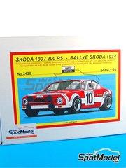Reji Model: Model car kit 1/24 scale - Skoda 180 / 200 RS #10, 15, 20, 89 - Jirí Šedivý (CZ) + Jirí Janecek (CZ), Josef Srnský (CZ) + Jirí Syrovátko (CZ), Olrich Horsak (CZ) + Jirí Motal (CZ) - Rally Skoda 1974 - Multimaterial kit