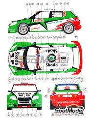 Reji Model: Model car kit 1/24 scale - Skoda Fabia S2000 Skoda #3, 6 - Juho Hänninen (FI) + Mikko Markkula (FI), Petr Starý (CZ) + Jan Kopecky (CZ) - Montecarlo Rally 2009 - resin multimaterial kit