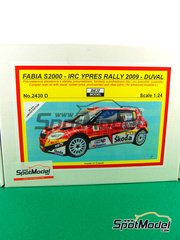 Reji Model: Model car kit 1/24 scale - Fabia S2000 Gordon #2 - François Duval (BE) - Ypres Rally 2009 - resin multimaterial kit