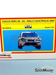 Reji Model: Model car kit 1/24 scale - Ford Focus WRC 06 Castrol #3 - Toni Gardemeister (FI) + Jakke Honkanen (FI) - Australian Rally 2005 - resins, photo-etched parts and decals