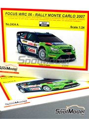 Reji Model: Model car kit 1/24 scale - Ford Focus WRC 06 Castrol Karcher BP Ultimate #3, 4 - Marcus Grönholm (FI), Mikko Hirvonen (FI) - Montecarlo Rally 2007 - resins, photo-etched parts and decals