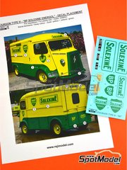 Reji Model: Marking 1/24 scale - Citroën Type H BP Solexine Energol - water slide decals and assembly instructions - for Ebbro kit EBR25007, or Heller kit 80768