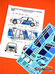 Reji Model: Marking / livery 1/24 scale - BMW M3 E30 Hartge #3 - Ingvar Carlsson (SE) + Erik Carlsson (SE) - ADAC Deutschland Rally 1990 - water slide decals and assembly instructions - for Beemax Model Kits kit B24007