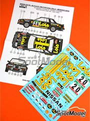Reji Model: Marking / livery 1/24 scale - Nissan 240RS Lois #20 - Santinho Mendes (PT) + Rui Cunha (PT) - Portugal Rally 1985 - water slide decals and assembly instructions - for Beemax Model Kits references B24008 and B24014