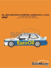 Reji Model: Marking 1/24 scale - BMW M3 E30 EuroOil #1 - Václav Pech (CZ) - Czech Meeting of Champions at Sosnová racetrack 2012 - water slide decals and assembly instructions - for Beemax Model Kits kit B24007