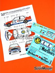 Reji Model: Marking / livery 1/24 scale - BMW M3 E30 Marlboro #4 - John Bosch (NL) + Kevin Gormley (GB) - Barum Czech Rally 1990 - water slide decals and assembly instructions - for Beemax Model Kits reference B24007, or Fujimi reference FJ125725 image
