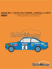 Reji Model: Marking / livery 1/24 scale - Lancia Stratos HF Pirelli #2 - Bernard Darniche (FR) + Alain Mahé (FR) - Tour de France Automobile 1981 - water slide decals and assembly instructions - for Hasegawa references 20217, 20261, 20268, 20282, 25032, 25036, HACR32 and HACR33