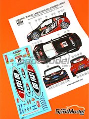 Reji Model: Marking / livery 1/32 scale - Ford Fiesta WRC Go Fast #10 - Petter Solberg (NO) + Ilka Minor-Petrasko (AT) - Montecarlo Rally - Rallye Automobile de Monte-Carlo 2012 - water slide decals and assembly instructions - for Airfix reference A03413