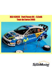 Reji Model: Decals 1/43 scale - Ford Focus WRC - Daniel 'Dani' Solà (ES) - Tour de Corse 2005