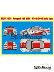 Reji Model: Decals 1/43 scale - Peugeot 307 WRC Hungary Total #1 - János Jr. Tóth  (HU) + Bea Bahor (HU) - Hungary Rally 2006 - for Tamiya kit TAM24285