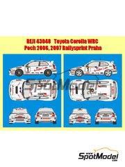 Reji Model: Decals 1/43 scale - Toyota Corolla WRC Matador - Václav Pech (CZ) - Rallysprint Praha 2006