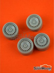 Reji Model: Rims 1/24 scale - Ronal 15 inches - resin parts - for Tamiya references TAM24322 and 24322 - 4 units image
