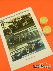 Reji Model: Rims 1/20 scale - Lotus Ford type 72 E #1, 2 - Emerson Fittipaldi (BR) + Ronnie Peterson (SE) - Spanish Grand Prix, French Grand Prix 1973 - front rims - for Ebbro reference EBR20009