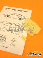 Reji Model: Transkit 1/24 scale - Porsche 934 Turbo RSR Group 4 rear spoiler - resins - for Revell kits REV07031 and REV07032, or Tamiya kits TAM24328 and TAM24334