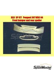 Reji Model: Transkit escala 1/24 - Peugeot 307 WRC 2004 - resinas del spoiler y el aleron trasero - para las referencias de Tamiya TAM24285 y 24285