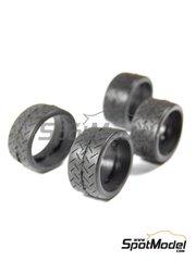 Reji Model: Neumáticos escala 1/24 - Michelin 18 pulgadas para coches de rally - neumaticos de goma - 4 unidades