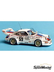 Renaissance Models: Model car kit 1/43 scale - Porsche 911 Turbo S Le Mans Brumos - Sebring 1993 - resin multimaterial kit