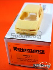 Renaissance Models: Model car kit 1/43 scale - Peugeot 106 Rallye Group A - Tour de Corse 1994 - resin multimaterial kit