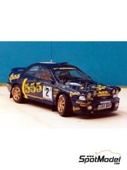 Renaissance Models: Model car kit 1/43 scale - Subaru Impreza WRC 555 - 1000 Lakes Finland Rally 1993 - resin multimaterial kit