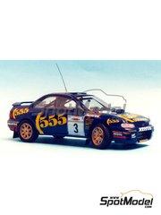 Renaissance Models: Model car kit 1/43 scale - Subaru Impreza WRC 555 - Acropolis rally 1994 - resin multimaterial kit