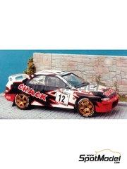 Renaissance Models: Model car kit 1/43 scale - Subaru Impreza WRC 555 Crack - Pol Lietaer (BE) - Ypres Rally 1998 - resin multimaterial kit